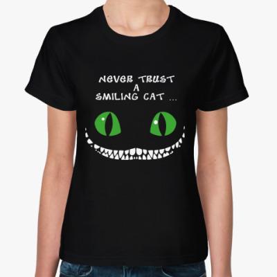 Женская футболка Чеширский кот