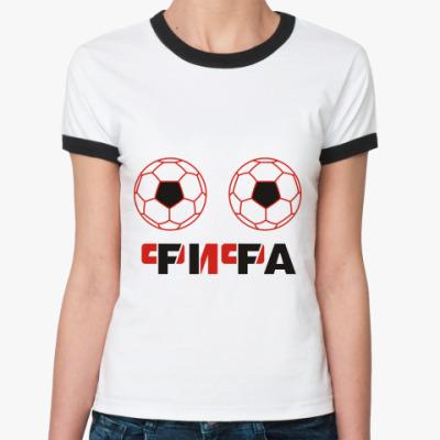 Женская футболка Ringer-T Фифа