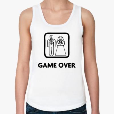 Женская майка Game Over
