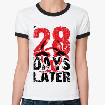 Женская футболка Ringer-T 28 Days Later