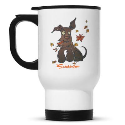 Кружка-термос Осенний шнауцер