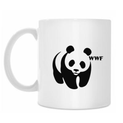Кружка WWF. Панда с лого