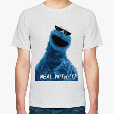 Футболка Cookie monster deal with it!