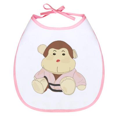 Слюнявчик обезьянка-каратист