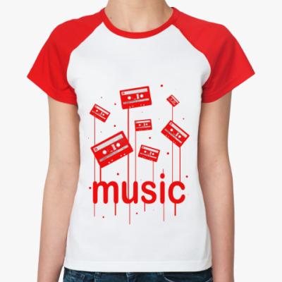 Женская футболка реглан Music