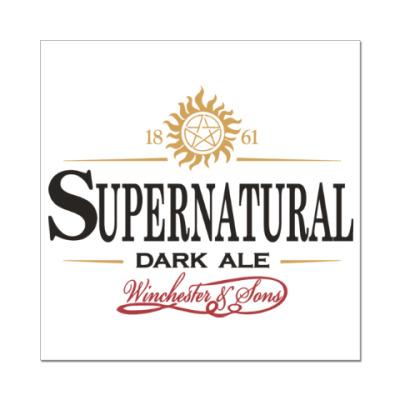 Наклейка (стикер) Supernatural - Темный эль