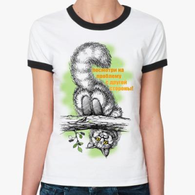 Женская футболка Ringer-T Посмотри!