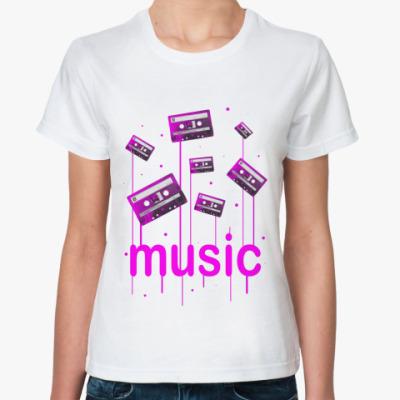 Классическая футболка Music