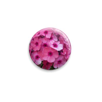 Значок 25мм  Pink flowers