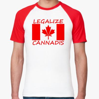 Футболка реглан  Legalize Cannadis