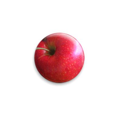 """Значок 25мм  """"Яблоко"""""""
