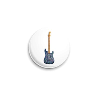 Значок 25мм Гитара