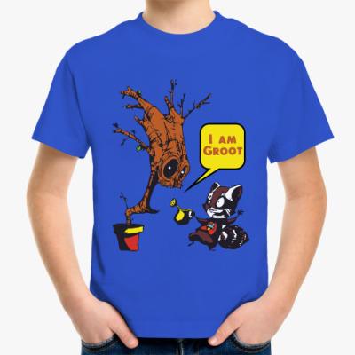 Детская футболка Groot and Rocket Raccoon
