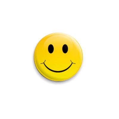 Значок 25мм Smile!