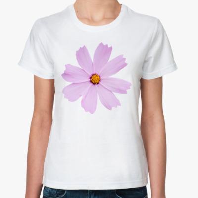 Классическая футболка Цветок космеи