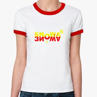 Женская футболка Ringer-T Снова  зима!