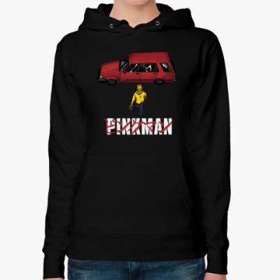 Женская толстовка худи Pinkman car