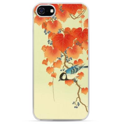 Чехол для iPhone Осень и птичка