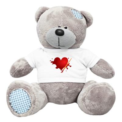 Плюшевый мишка Тедди Сердце и кисть