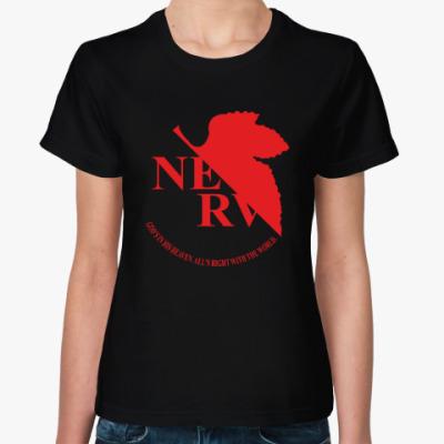 Женская футболка Евангелион / Evangelion - NERV Logo
