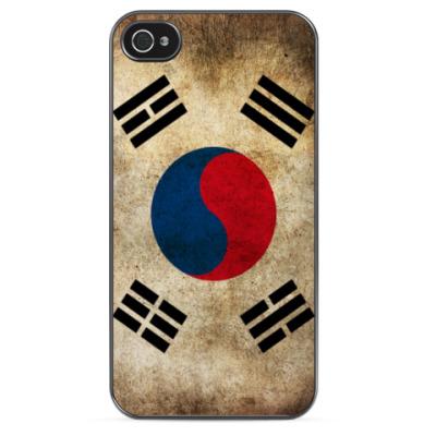 Чехол для iPhone Флаг Южной Кореи