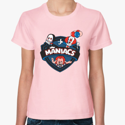Женская футболка Maniacs