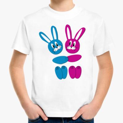 Детская футболка Зайчики