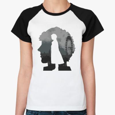 Женская футболка реглан Sherlock city