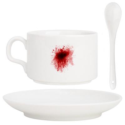 Кофейный набор Брызги крови