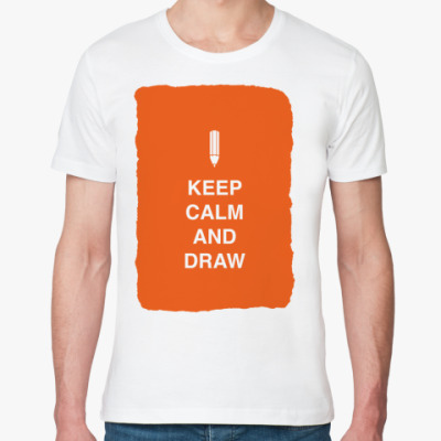 Футболка из органик-хлопка Keep calm and draw