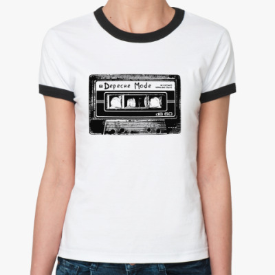 Женская футболка Ringer-T  Depeche Mode