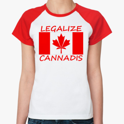 Женская футболка реглан  Legalize Cannadis