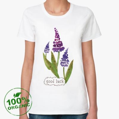 Женская футболка из органик-хлопка приносящая удачу