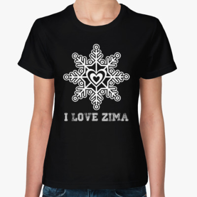 Женская футболка Любовь. Новый год.