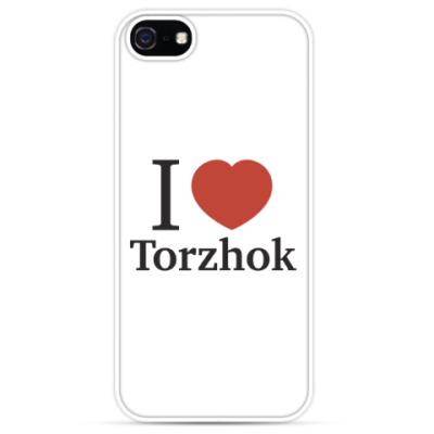 Чехол для iPhone Я люблю Торжок