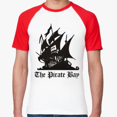 Футболка реглан  пират the pirate bay