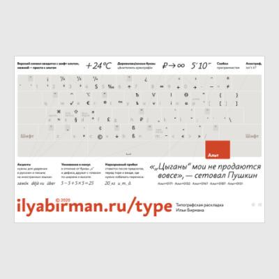 Постер Типографская раскладка Ильи Бирмана
