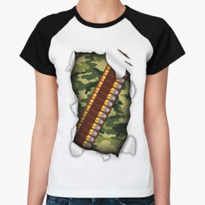 Женская футболка реглан Патроны