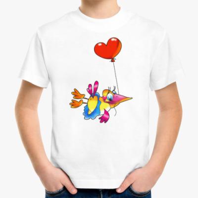 Детская футболка ПТИЦА С СЕРДЕЧКОМ