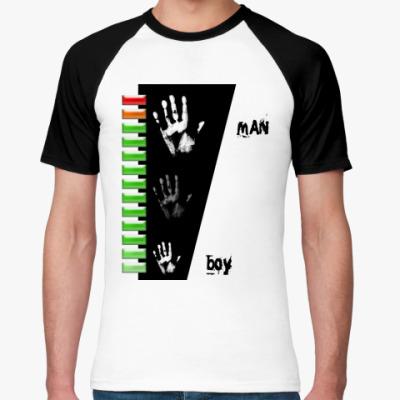 Футболка реглан  boy-man 100%