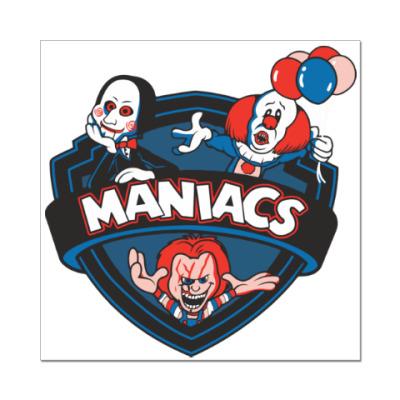 Наклейка (стикер) Maniacs
