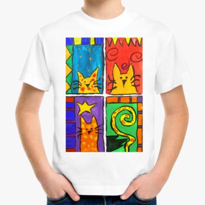 Детская футболка Веселые коты