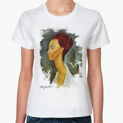 Классическая футболка женщина
