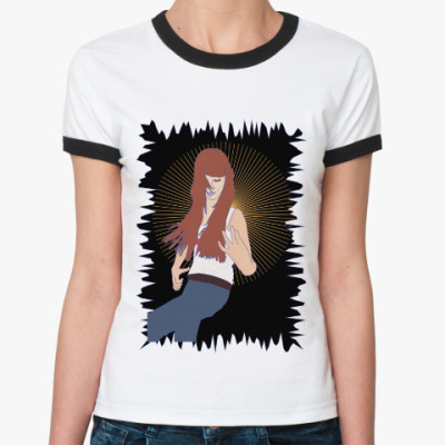 Женская футболка Ringer-T воображаемая музыкальная игра