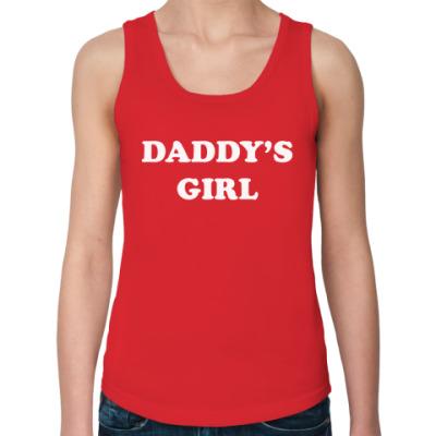 Женская майка Daddy's girl