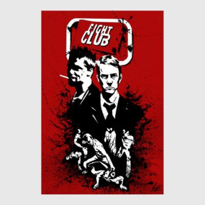 Постер Fight club