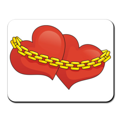 Коврик для мыши Сердца и цепь