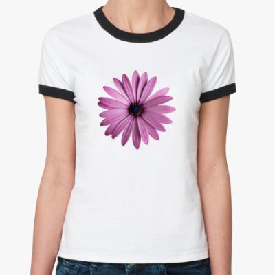 Женская футболка Ringer-T Цветочек