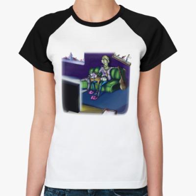 Женская футболка реглан Life zombie!