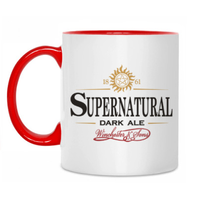 Кружка Supernatural - Темный эль